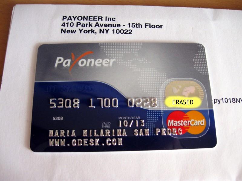 Payoneer Crad
